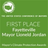 First Place Award Mayor Lioneld Jordan Climate Protection Awards
