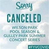 Canceled: Wilson Park Pool Season and Gulley Park Summer Concert Series