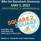 Square to Square Bike Ride  Taking Place Saturday, May 1