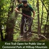 First Trail Open for Public Use at Centennial Park at Millsap Mountain