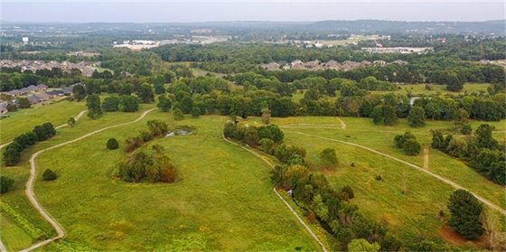 A view of land recently donated to the City to form Underwood Park.