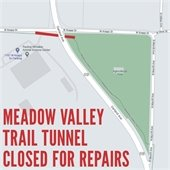 Meadow Valley Trail Tunnel Closed for Repairs