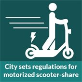 City sets regulations for motorized scooter-share