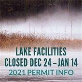 Lake Facilities Closed Dec 24-Jan14