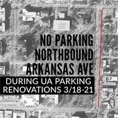 No Parking Northbound Arkansas Avenue