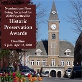 Nominations Accepted for Historic Preservation Awards. Deadline  5 p.m. April 2, 2020