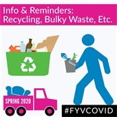 Info and reminders: Recycling, Bulky Waste, Etc.