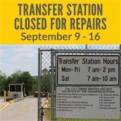 Transfer Station Closed for Repairs