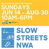 Sundays, June 14 - Aug 30, 10 a.m. to 6 p.m.-- Slow Streets NWA