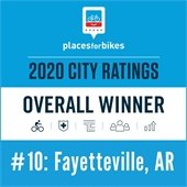Fayetteville ranks #10, PlacesforBikes Top Ten Best Places for Bikes