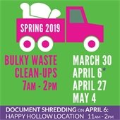 City Announces Spring 2019 Bulky Waste Clean-Up Events