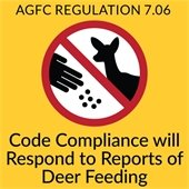 Code Compliance Deer Feeding