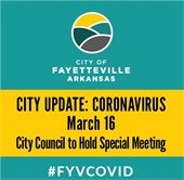 City COVID Update, March 16: City Council to Hold Special Meeting