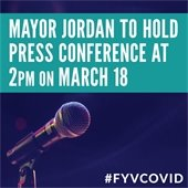 Mayor Jordan to hold Press Conference at 2 p.m. on March 18