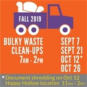 Fall 2019 Bulky Waste Clean-Up Events