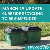 March 19 Update: Curbside Recycling to be Suspended