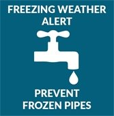 Freezing weather alert: Prevent frozen pipes
