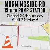 Morningside Road Closed