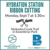 Hydration Station Ribbon Cutting