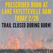 Lake Fayetteville Prescribed Burn