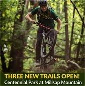 Three new trails open in Centennial Park at Millsap Mountain