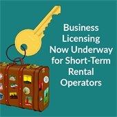 Business licensing now underway for short-term rental operators