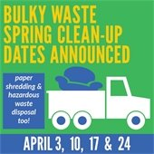 Bulky Waste spring cleanup dates announced
