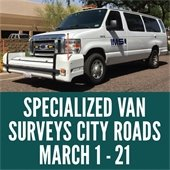 Specially-Outfitted White Van to Drive Fayetteville Streets Surveying Roads