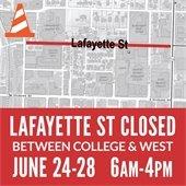Lafayette St. Closed