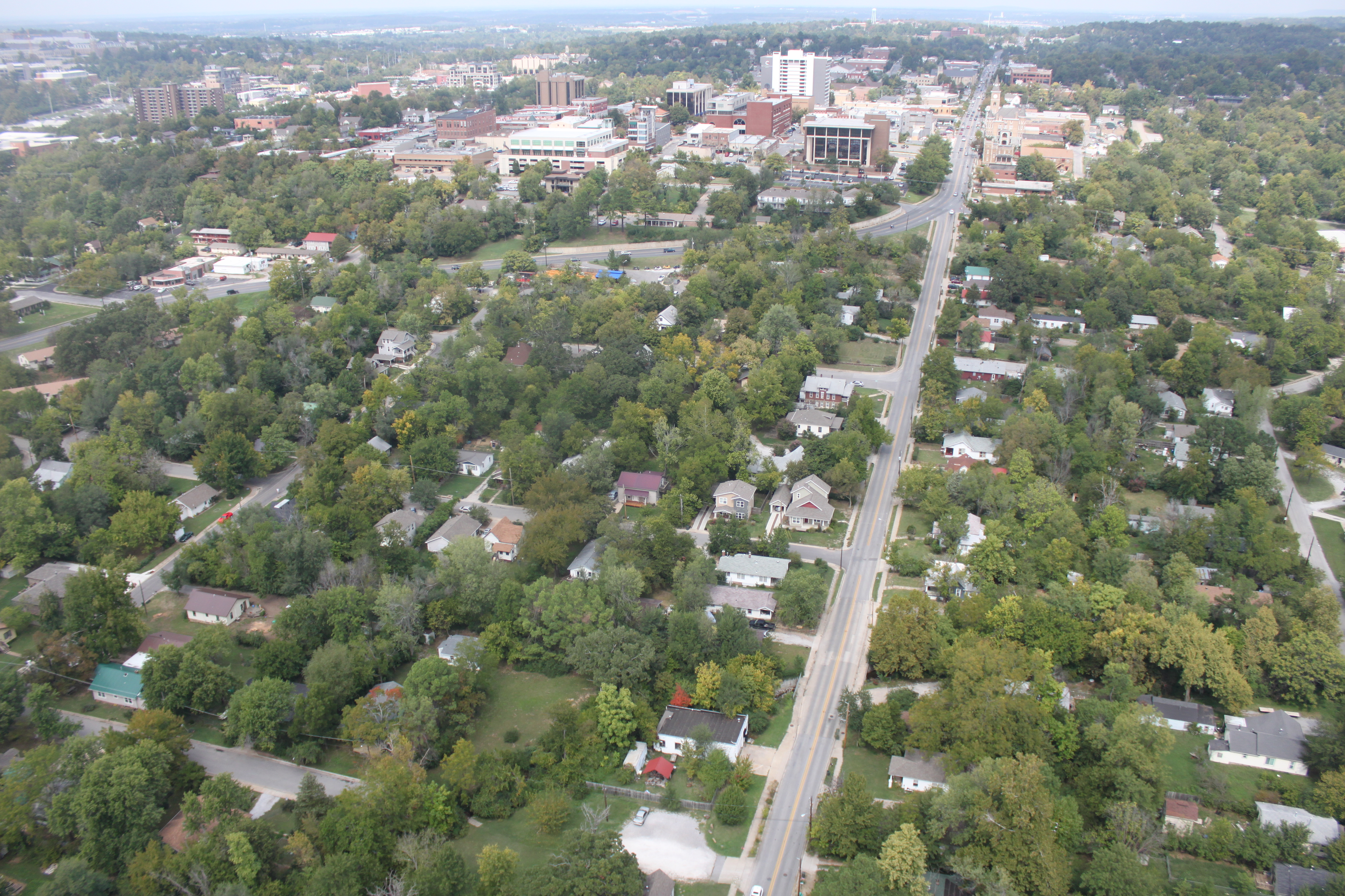 Sky view of Downtown Fayetteville