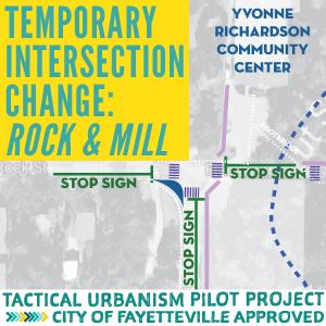 Rock Mill Intersection Tactical Urbanism Pilot Project