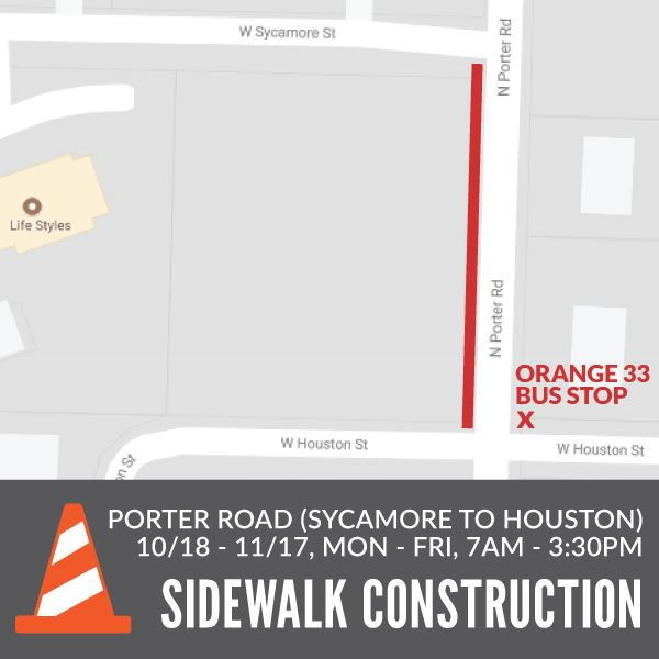 Porter Road Sidewalk Construction