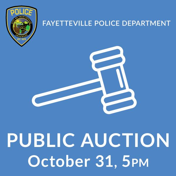 Fayetteville Police Department Public Auction