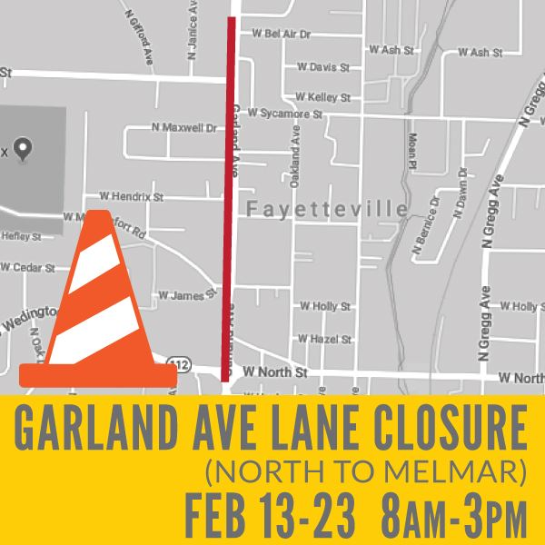 Garland Lane Closure