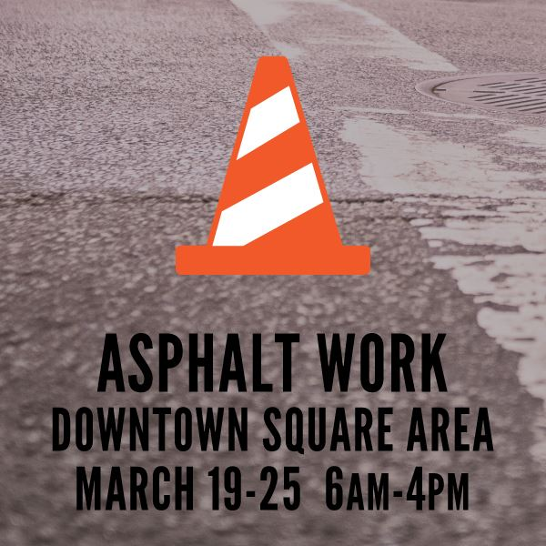 Asphalt Work in Downtown Square Area