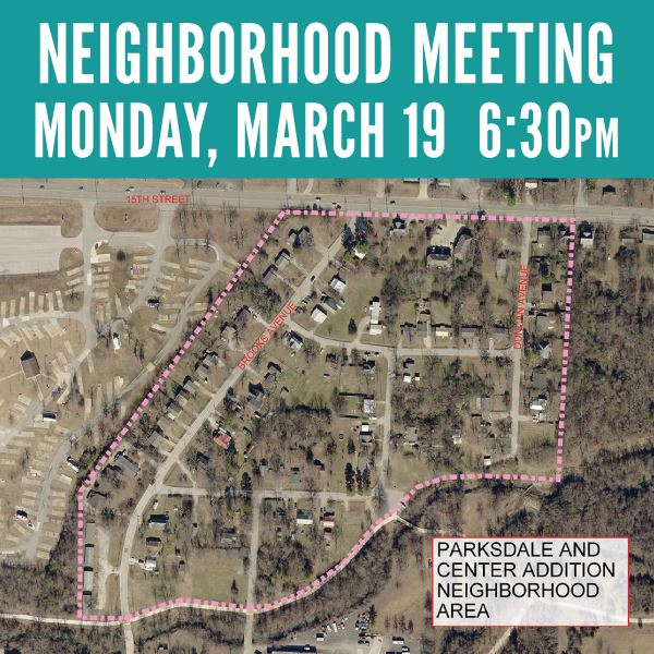 Neighborhood Meeting Parksdale and Center Addition