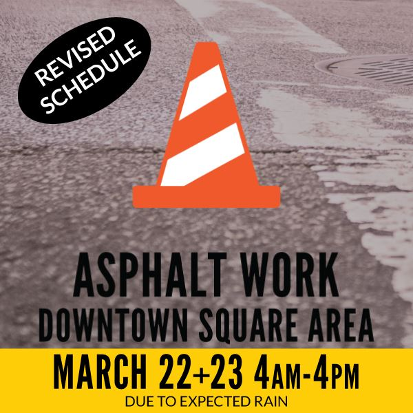 Asphalt Work Square Area - Revised Schedule