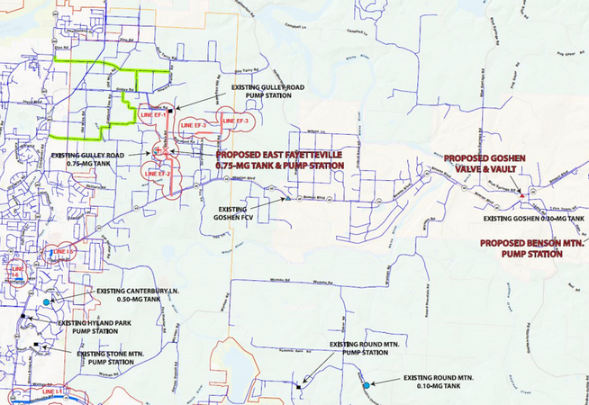 East Fayetteville Water System Improvements