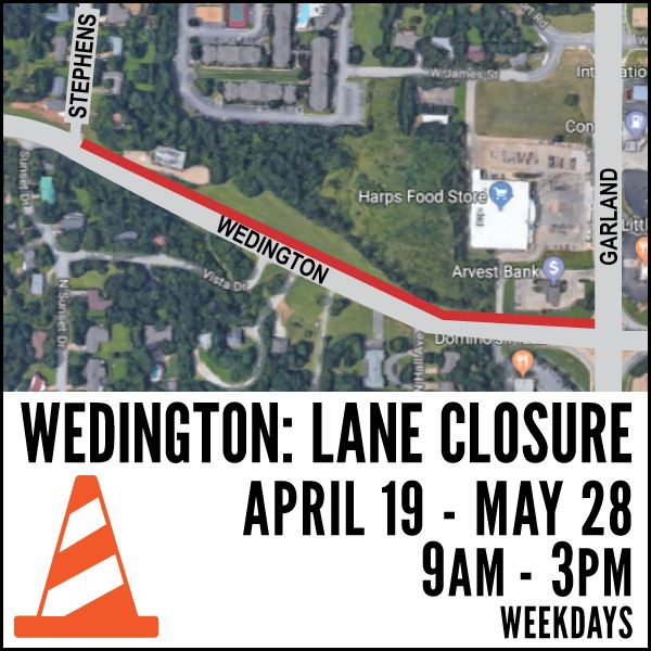 Wedington Lane Closure
