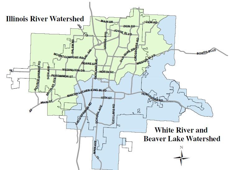 map of fayetteville arkansas Stormwater Quality Fayetteville Ar Official Website map of fayetteville arkansas