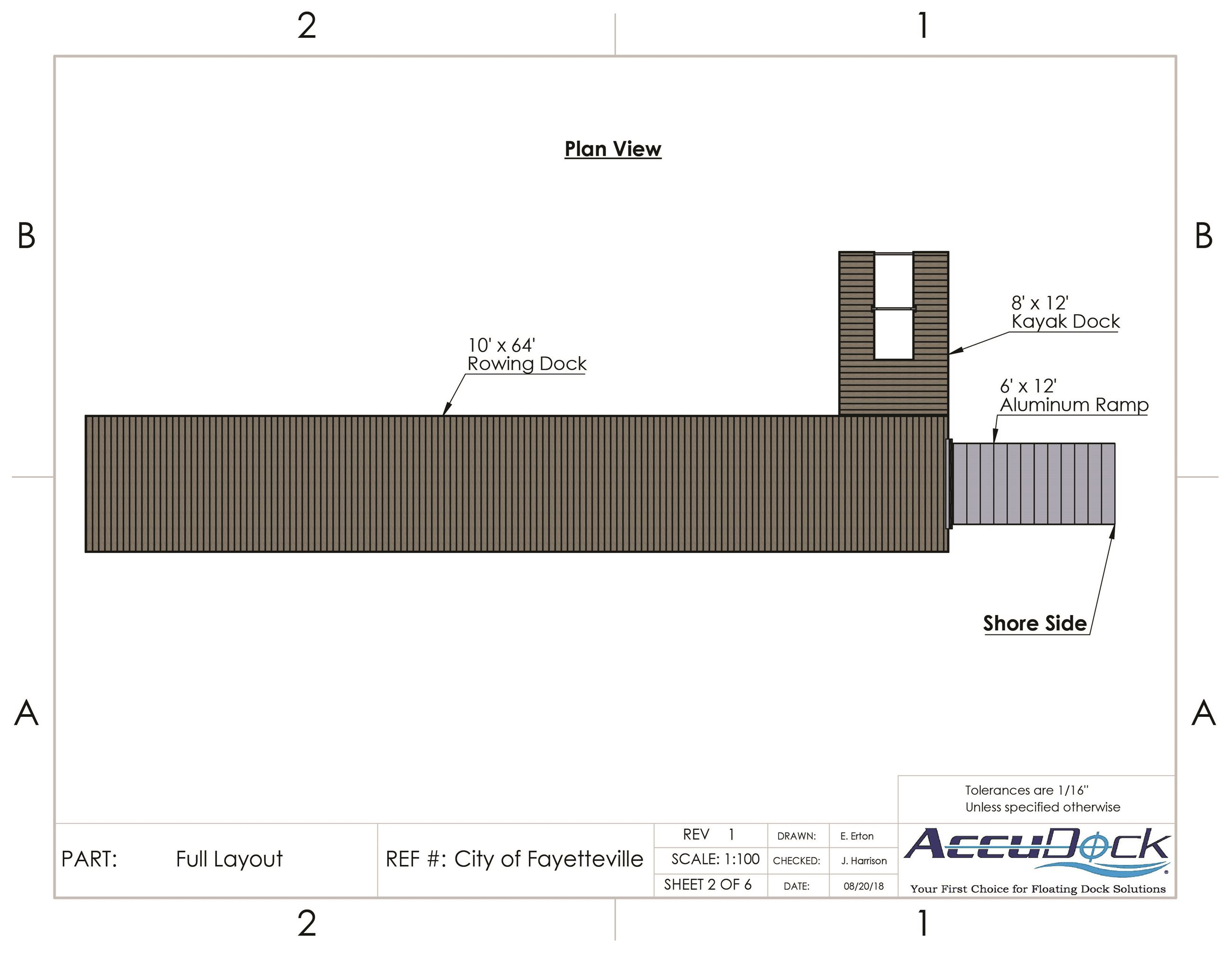 Lk Fay Rowing Dock Plan 2018