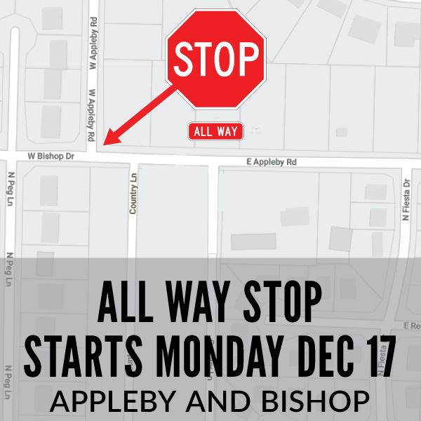 All Way Stop at Appleby and Bishop