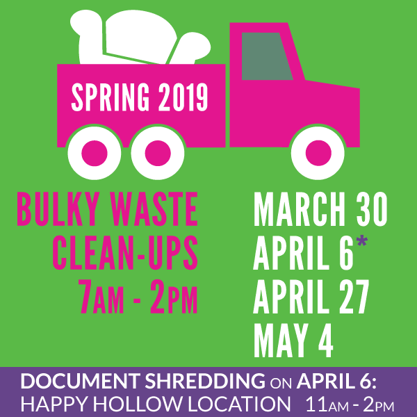 Bulky Waste Clean-Up Spring 2019