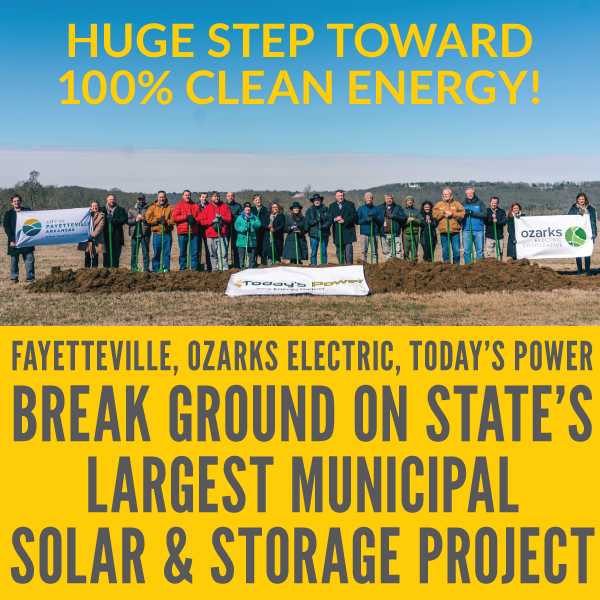Fayetteville One Step Closer to 100% Clean Energy and Breaks Ground on Solar and Storage Project