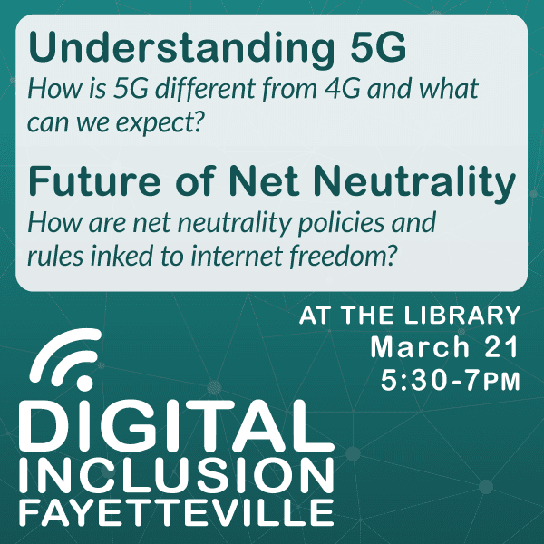 City Invites Residents to Net Neutrality and 5G Technology Event on March 21