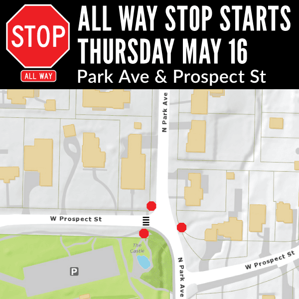 All Way Stop at Park and Prospect