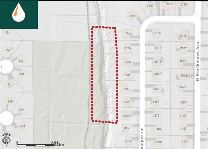 Scull Creek restoration affected area map