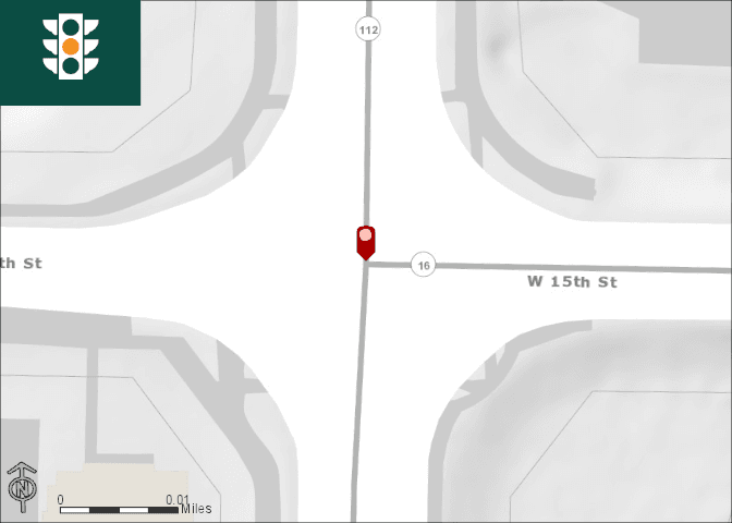15th Razorback Intersection