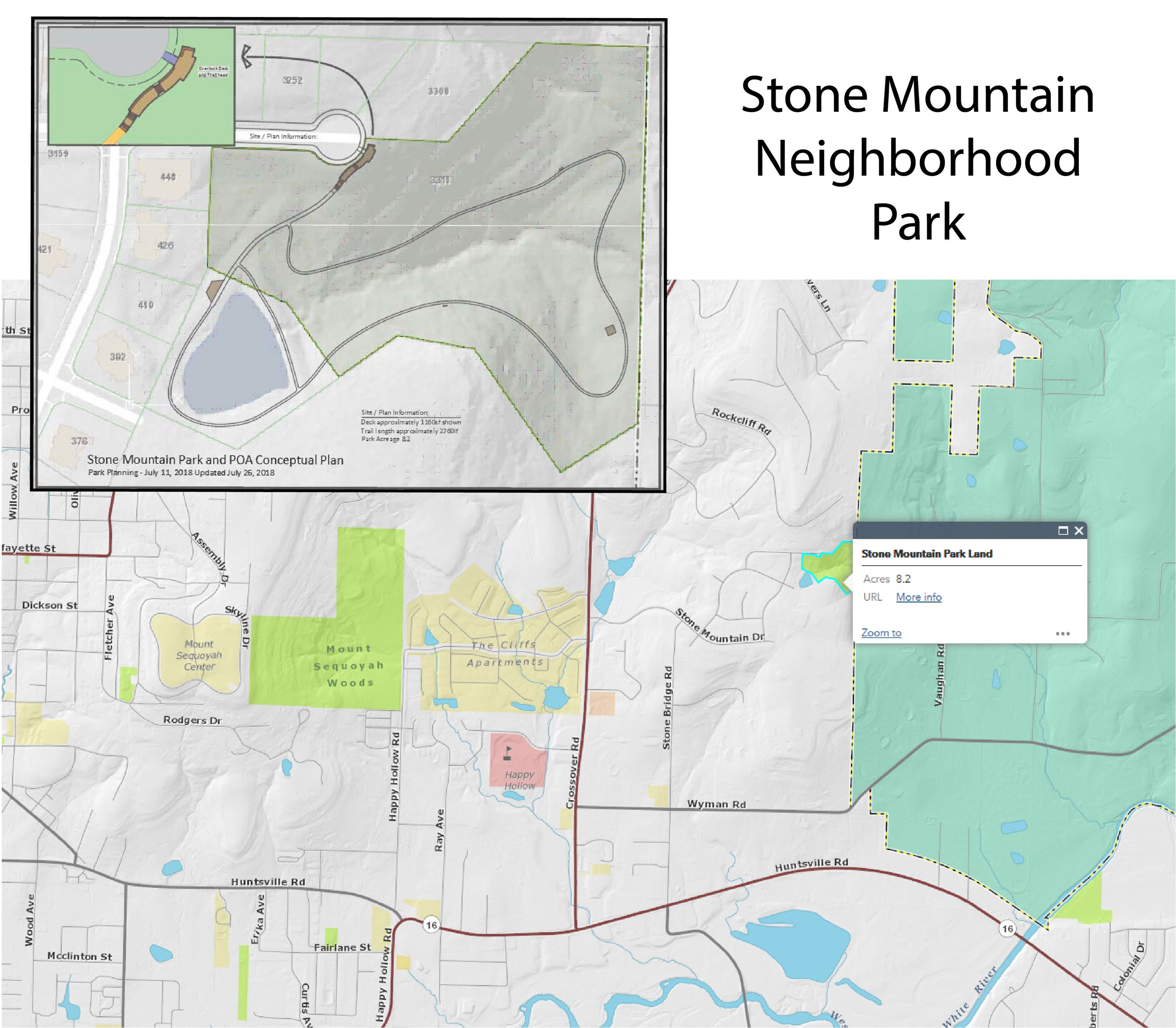 Stone Mountain Park map-01