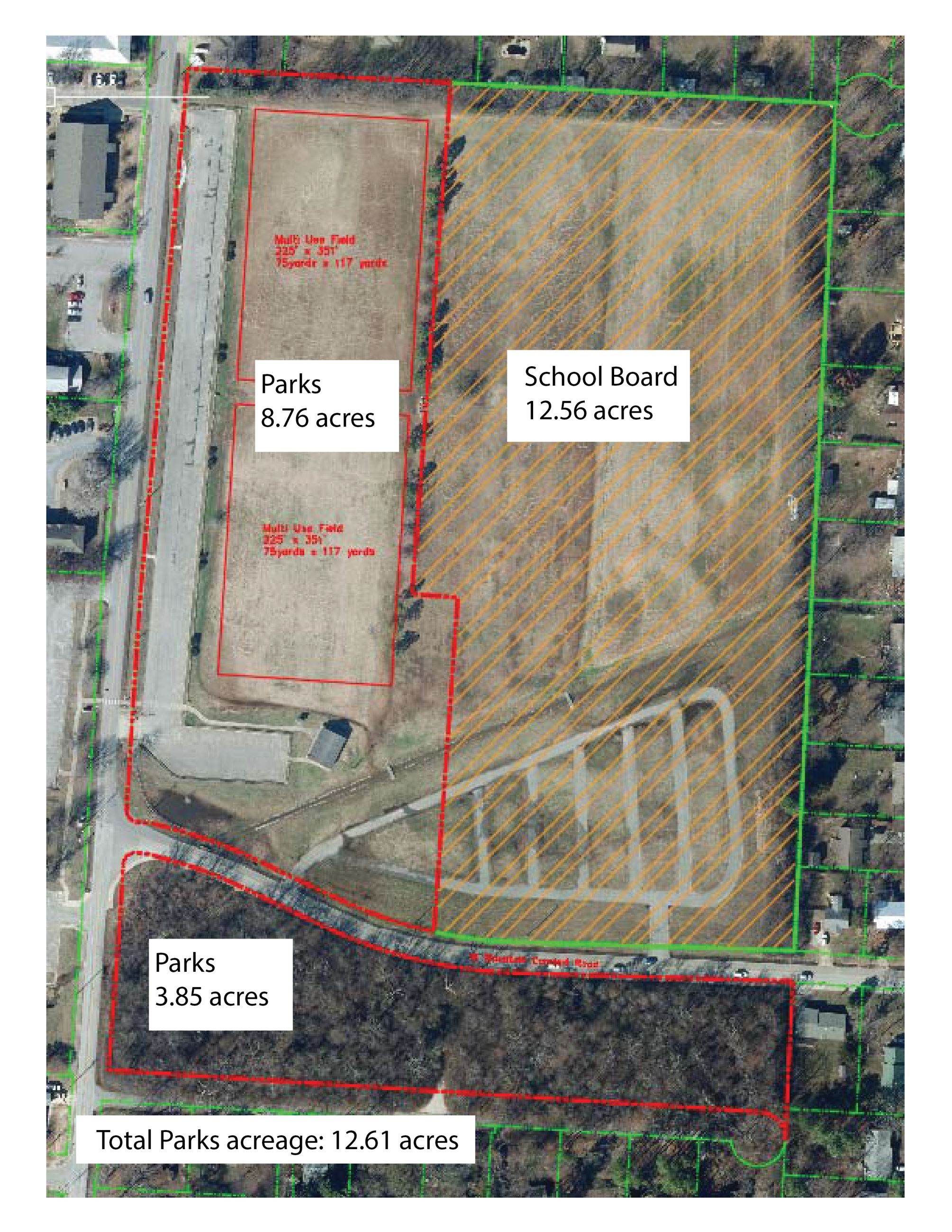 Lewis Park land acquisition map
